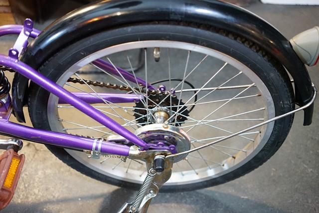 リサイクル自転車のリヤタイヤ