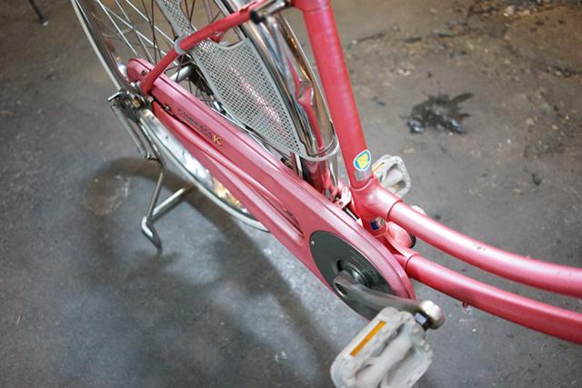 3台目のリサイクル自転車のチェーンカバー